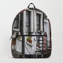 Picturesque street view in Greenwich Village, New York Backpack