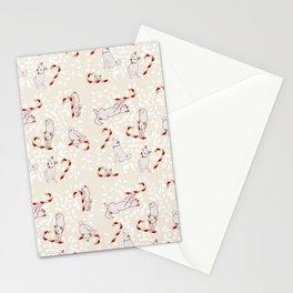 Candy Cane Shiba Inus Stationery Cards