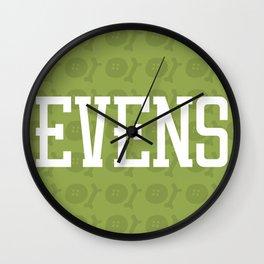 Evens (pattern 2) Wall Clock