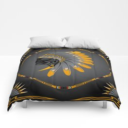 Honor and Strength Yellow Comforters