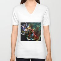 thor V-neck T-shirts featuring Thor by ururuty