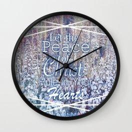Colossians 3:15 Wall Clock