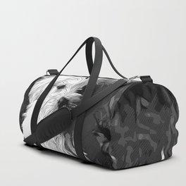 maltese dog vector art black white Duffle Bag