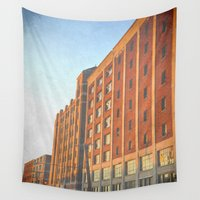 detroit Wall Tapestries featuring DETROIT STRONG by Teresa Chipperfield Studios