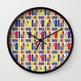 A rainbow colorful African prints Wall Clock
