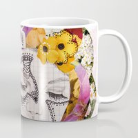 flora Mugs featuring Flora by Jenndalyn