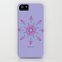 Breathe In & Out Mandala - Lavender iPhone Case