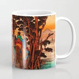 Yoshiwara Japan view of Mount Fuji Coffee Mug