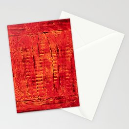 Ladders (Red Abstract) Stationery Cards