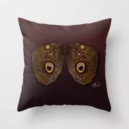 Wings of Eyes Throw Pillow