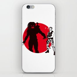 Predator Cartoon Style iPhone Skin