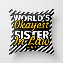 Birthday Gifts for Sister in Law Throw Pillow