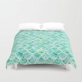VENUS DE MER Aqua Mermaid Scales Duvet Cover