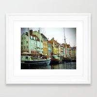 denmark Framed Art Prints featuring Denmark by Milkflow Designs