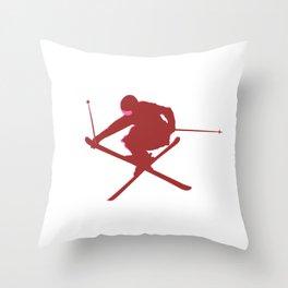 Red Slopestyle Throw Pillow