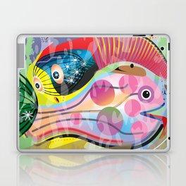 Hippy Fish in Rainbow Glow Laptop & iPad Skin