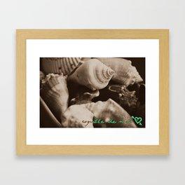 Coquille de Mer Framed Art Print