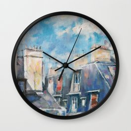 Roofs of Montmartre Wall Clock