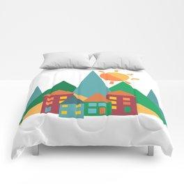 Summer in the Alps Comforters