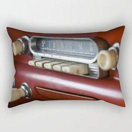 Red Radio Rectangular Pillow
