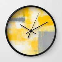 breakfast Wall Clocks featuring Breakfast by T30 Gallery