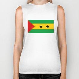Sao Tome and Principe country flag Biker Tank