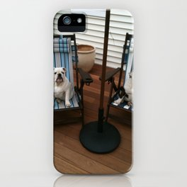 Bulldogs Lounging iPhone Case