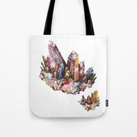 crystal Tote Bags featuring Crystal by Kat Nova