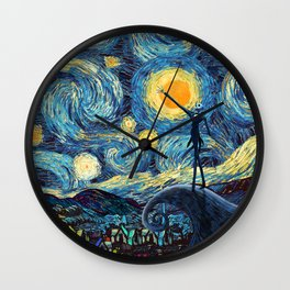 Jack starry nightmare night iPhone 4 5 6 7 8, pillow case, mugs and tshirt Wall Clock
