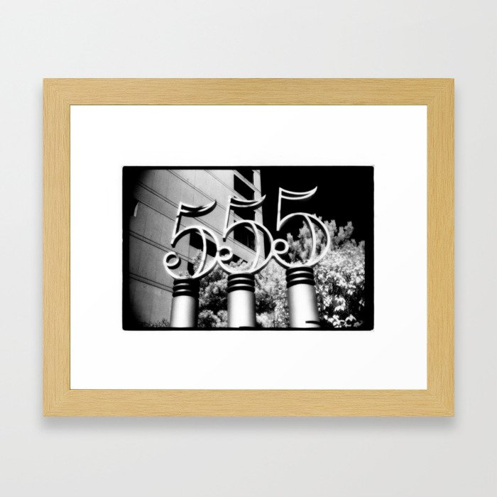 555 Framed Art Print