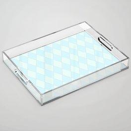 Blue Diamond Harlequin Acrylic Tray