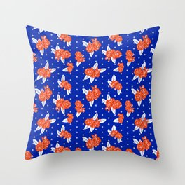 Florida fan gators university orange and blue team spirit football college sports florals Throw Pillow