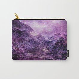galaxy mountains Purple Carry-All Pouch