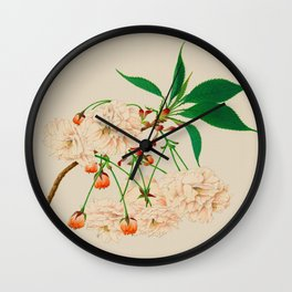 Fugen's Elephant Cherry Blossoms Wall Clock