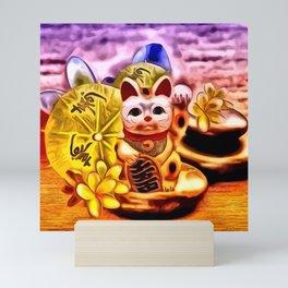 Glückskatze Mini Art Print