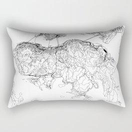 Hong Kong White Map Rectangular Pillow