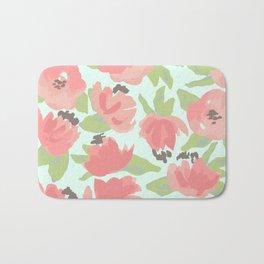 Watercolor Blooms Bath Mat