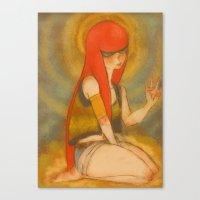 santa monica Canvas Prints featuring Santa Monica by Daytwah