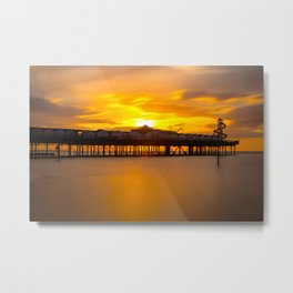 Sunset Over Herne Bay Pier Metal Print
