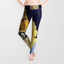 Vintage Parisian French Anis del Oso Aperitif Liquor Persan Export Advertisement Poster Leggings