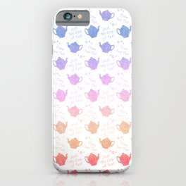 Time for Tea Pretty Pastel Colors iPhone Case