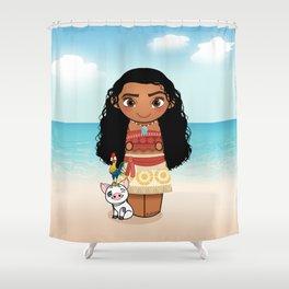 Kokeshi Moa na Shower Curtain