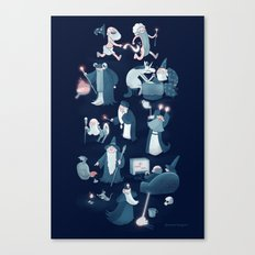 A Shared Flat for Wizards Canvas Print