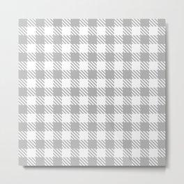 Plaid Pattern 512 Gray Metal Print