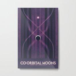 Janus & Epimetheus - Co-Orbital Moons Metal Print
