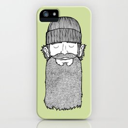 Lumberjack McBeardy iPhone Case