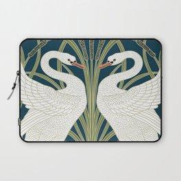 Swan Rush and Iris by Walter Crane Laptop Sleeve