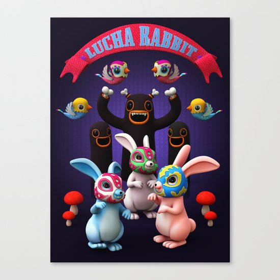 Lucha Rabbit Canvas Print