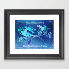Axe Us About Our Deals! Framed Art Print