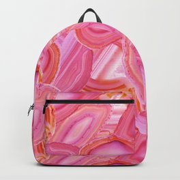 Pink Agate Pattern Backpack